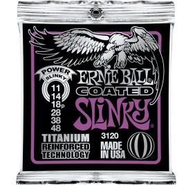 Ernie Ball Coated Tit. Rps Power Slinky 11-48 Elektromos Gitárhúr