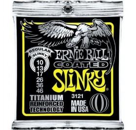 Ernie Ball Coated Tit. Rps Regular Slinky 10-46 Elektromos Gitárhúr