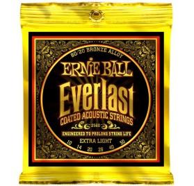 Ernie Ball 2560 Everlast Extra Light akusztikus gitárhúr készlet