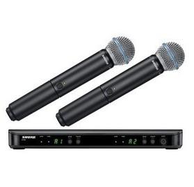 Shure BLX288E/B58-H8E vezeték nélküli kézi mikrofon szett