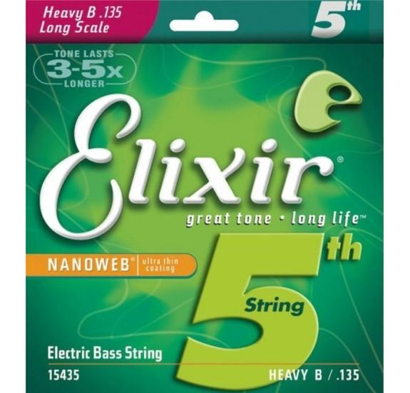 Elixir 15435 Electric Bass NanoWeb Coating 135 basszusgitár húr - Single