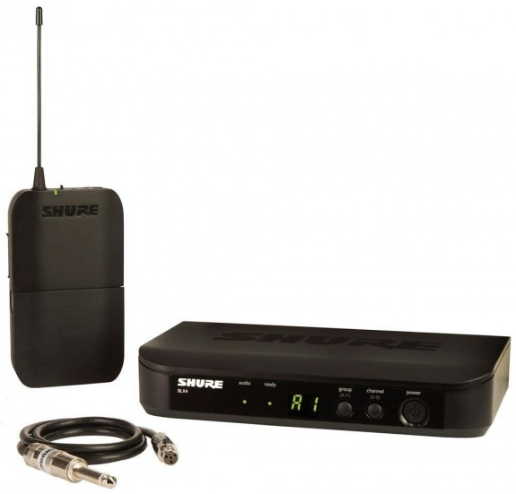 SHURE BLX14E/CVL Presenter szett,  BLX1 zsebadó, BLX4E vevõ, CVL csiptetõs mikrofon